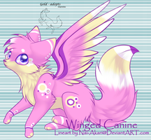 winged canine auction -closed- by gold-adopts