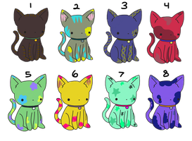 Adoptable Cats by truerefrain