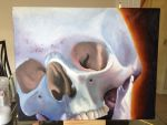 skull(my first oil painting) by krzyo1125