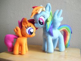 Rainbow Dash and Scootaloo too by EquestriaPaintings