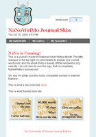 NaNoWriMo Journal Skin by moonfreak