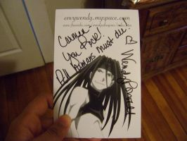 wendy powell autograph by allanimerules1