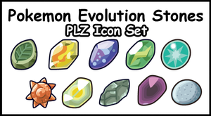 PLZ Icons Pokemon Evolution-Stones by Zusuriki