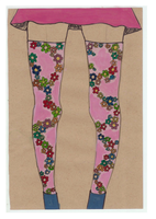 floral leggings by retrobunny