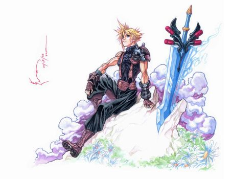 Cloud Strife Reminisce by Nick-Ian