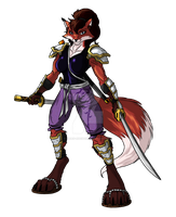 Foxy Warrior Ninjara by Elden-rucidor