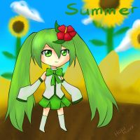 Season Miku - Summer by HakuMizuki