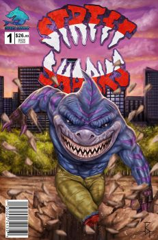 Street Sharks ComicBook Cover by RoyalFiend