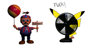 GIft 4: Balloon boy x Pika by PastelKitty14
