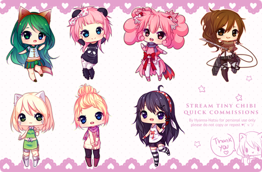 Tiny Chibis Commissions [3] by Hyanna-Natsu