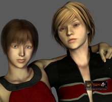 Rebecca Chambers and Heather Mason: DAZ models by Ygure