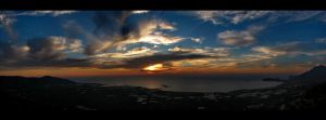 Falasarna Panorama Sunset by ArtSpawnGr