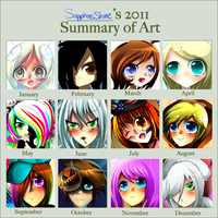 2011 Art Summary by SapphireShine
