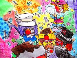 CaNdY cLoWnS by yukidogzombie