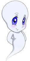 Casper the Ghost by Angie--Wolf