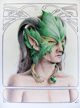 The Green Man by kimchikawaii