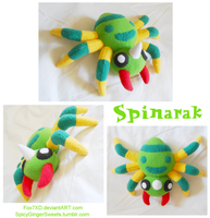 Spinarak Plush by Fox7XD