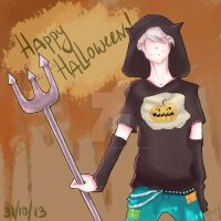 Happy Halloween!(APH. Prussia) by AsmodeusSchizophrene