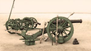 French Gribeauval 12-pounder Cannon by rapscallionmonkey