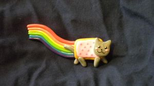 Nyan cat Button by KumoriYori