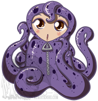 Chibi in Octopus Suit by kuroitenshi13