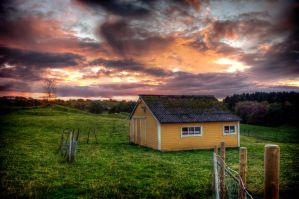 House of the setting sun by Nystuen