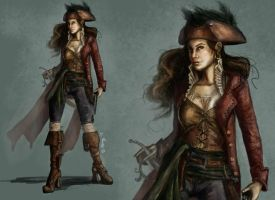 Pirate Captain Circe by AmandaRamsey