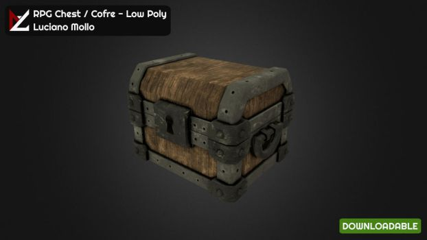 RPG Chest / Cofre - Low Poly by LucianoMolloDesigns