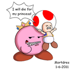 Peach Kirby by Mortdres