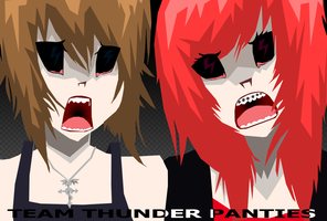 Team Thunderpanties Zombies by TheMadHattersMistres