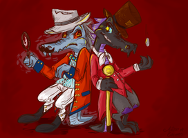 Merquo and Skalengeck - Neopets request by astro-cosmos