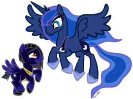 Princess Luna and Sirius by MissiTofu