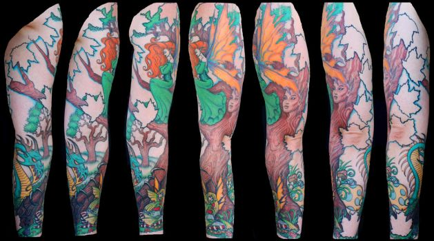 Enchanted Forest Full Sleeve 3 by BeautifulDragon322