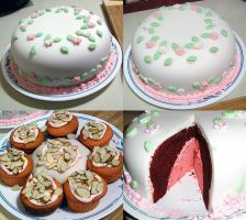 Springtime Cakes by LunarBerry