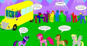 Friendship is Magic School Bus by NebulaStars