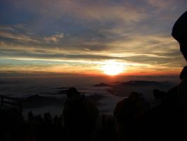 Sunrise from Mt. Fuji, Japan by Waterdroplet-s