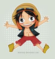 Chibi Luffy by Eternizy