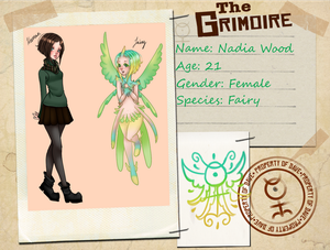the grimoire ref sheet by Nadia Wood