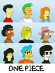 One Piece - The Simpsons style by sushi-holic