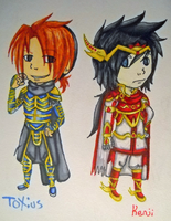 Kenji and Toxius by Razzl3erry