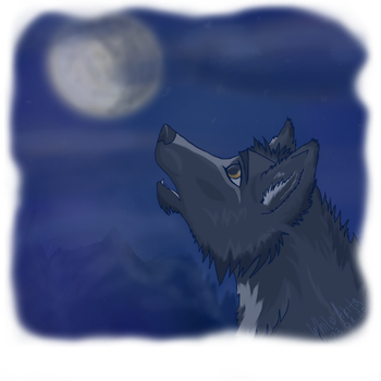 lone wolf by WhiteAkitaPainter