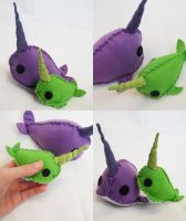 Narwhals by hellohappycrafts