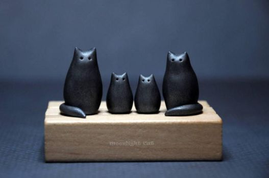 Cat family by MoonlightCatHandmade