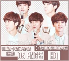 Pack Png #06 - Luhan [EXO] by GirlHana