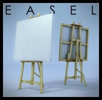 Artists easel by Cubiclegangster
