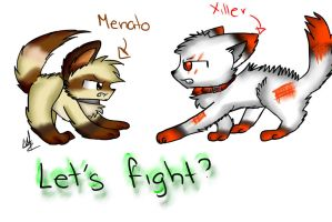 .::let's fight??::. by Silviaakame