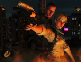 Resident evil wallpaper Jake and Sherry 4 by ethaclane