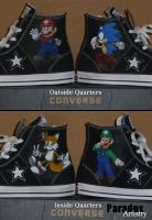 Mario Luigi Sonic Tails Shoes by Paradox-Artistry
