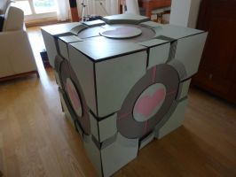 WIP Companion Cube Cosplay by Alex-chan666