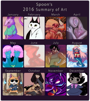 2016 summary of art by Spoonfayse
